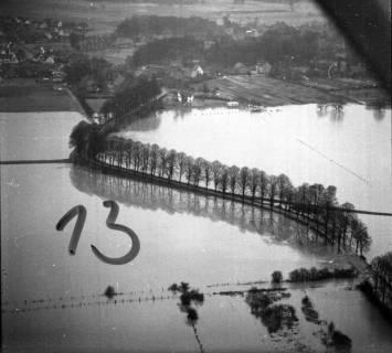 ARH NL Koberg 1636, Leinehochwasser, Leinetal Mandelsloh, Schloß Ricklingen, Seelze, 1970
