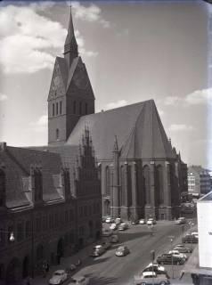 ARH NL Koberg 165, Marktkirche und altes Rathaus, Hannover, um 1963