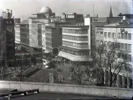 ARH NL Koberg 172, Blick von der Oper auf Kröpcke und Georgstraße, Hannover, wohl 1955