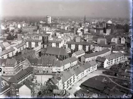 ARH NL Koberg 182, Blick von der Marktkirche auf die Kreuzkirche, Hannover, wohl 1956