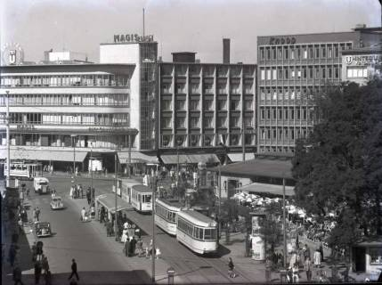 ARH NL Koberg 184, Blick aus der Georgstraße auf den Kröpcke, Hannover, wohl 1954