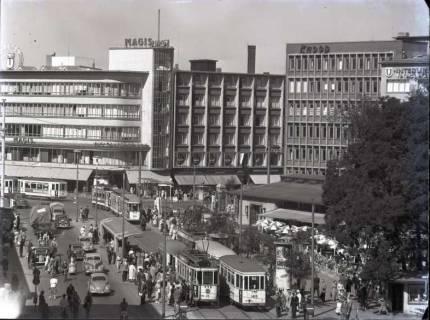 ARH NL Koberg 187, Blick aus der Georgstraße auf den Kröpcke, Hannover, wohl 1954