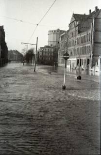 ARH NL Koberg 1965, Leinehochwasser, Goethestraße, Glocksee, Waterlooplatz, Hannover, 1946
