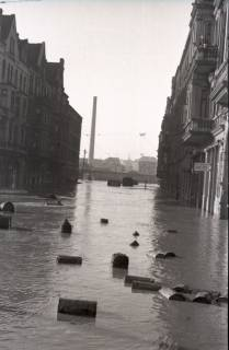 ARH NL Koberg 1970, Leinehochwasser, Goethestraße, Glocksee, Waterlooplatz, Hannover, 1946