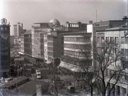 ARH NL Koberg 198, Blick auf Kröpcke und Georgstraße, Hannover, wohl 1955