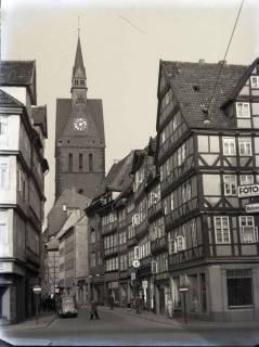 ARH NL Koberg 202, Kramerstraße und Marktkirche, Hannover, wohl 1954