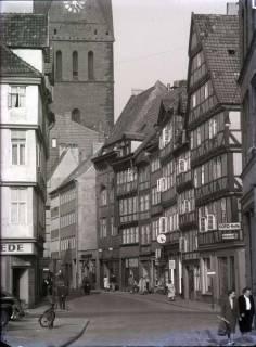 ARH NL Koberg 203, Holzmarkt, Kramerstraße und Marktkirche, Hannover, wohl 1956