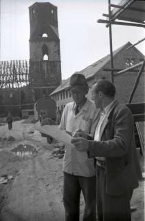 ARH NL Koberg 214, Bauarbeiten rund um die Kreuzkirche, Hannover, 1949