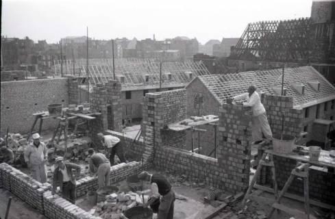 ARH NL Koberg 215, Bauarbeiten rund um die Kreuzkirche, Hannover, 1949