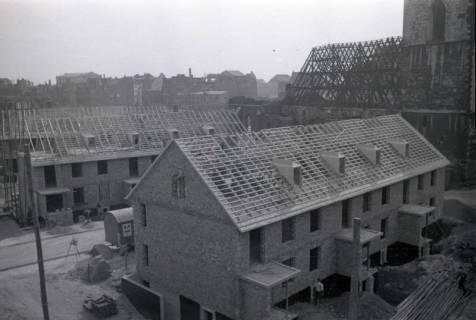 ARH NL Koberg 216, Bauarbeiten rund um die Kreuzkirche, Hannover, 1949