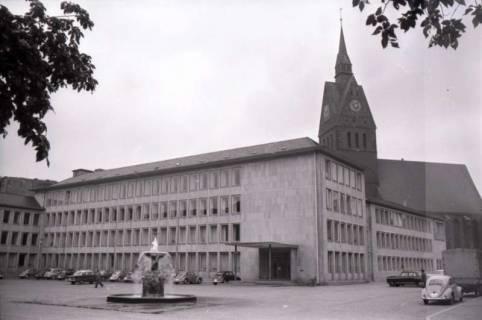 ARH NL Koberg 240, Hanna-Arendt-Platz und Marktkirche, Hannover, 1958