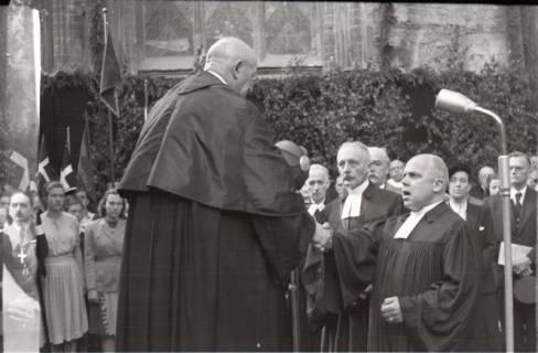 ARH NL Koberg 2456, Amtseinführung Landesbischof Dr. Dr. Hanns Lilje in der Marktkirche, Hannover, 1947