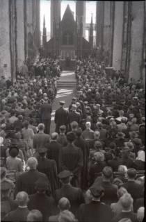 ARH NL Koberg 2458, Amtseinführung Landesbischof Dr. Dr. Hanns Lilje in der Marktkirche, Hannover, 1947