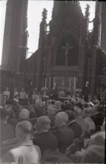 ARH NL Koberg 2460, Amtseinführung Landesbischof Dr. Dr. Hanns Lilje in der Marktkirche, Hannover, 1947