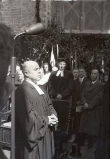 ARH NL Koberg 2463, Amtseinführung Landesbischof Dr. Dr. Hanns Lilje in der Marktkirche, Hannover, 1947