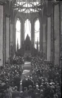 ARH NL Koberg 2474, Amtseinführung Landesbischof Dr. Dr. Hanns Lilje in der Marktkirche, Hannover, 1947