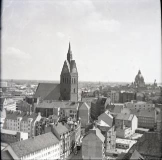 ARH NL Koberg 2478, Blick von der Kreuzkirche auf die Marktkirche, Hannover, 1962