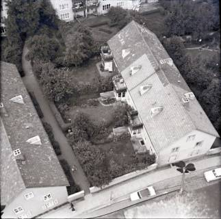 ARH NL Koberg 2483, Blick von der Kreuzkirche auf Wohngebiet, Hannover, 1962