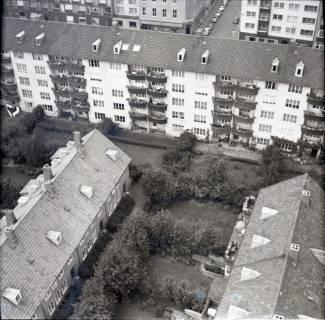 ARH NL Koberg 2484, Blick von der Kreuzkirche auf Wohngebiet, Hannover, 1962