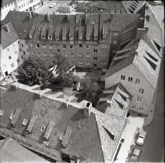 ARH NL Koberg 2485, Blick von der Kreuzkirche auf Wohngebiet, Hannover, 1962