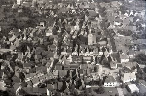 ARH NL Koberg 2530,  Stadtansicht mit Kirche, Bad Münder, 1972