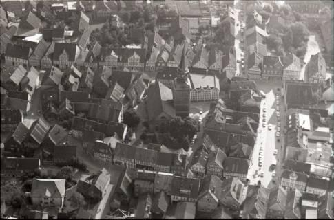 ARH NL Koberg 2532,  Stadtansicht mit Kirche, Bad Münder, 1972