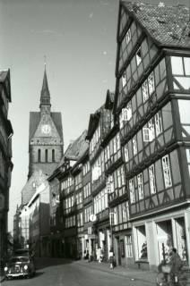 ARH NL Koberg 260, Kramerstraße mit Marktkirche, Hannover, 1958