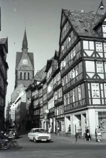 ARH NL Koberg 262, Kramerstraße mit Marktkirche, Hannover, 1958