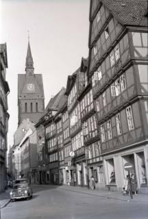 ARH NL Koberg 263, Kramerstraße mit Marktkirche, Hannover, 1958