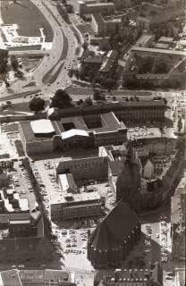 ARH NL Koberg 2632, Leineschloss und Marktkirche, Hannover, 1971