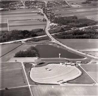 ARH NL Koberg 2864, Autobahnabfahrt, Autokino und Kirchhorster See, Kirchhorst, 1974
