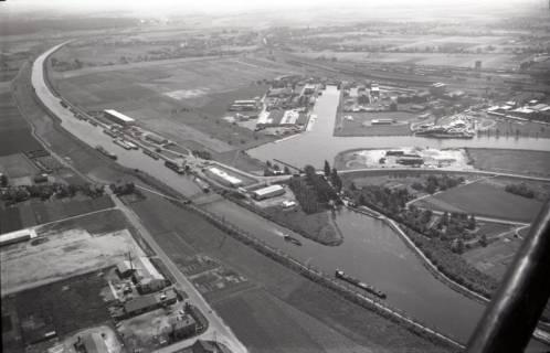 ARH NL Koberg 2914, Industriehäfen und Schleuse, Minden, 1960