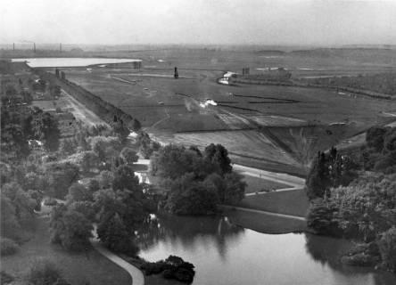 ARH NL Koberg 3011, Maschwiesen während der Bauarbeiten für den Maschsee, Hannover, zwischen 1935/1936