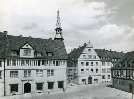 ARH NL Koberg 3012, Altstadtsanierung, Blick vom Ballhof auf Kreuzkirche, Hannover, 1938
