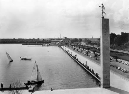 ARH NL Koberg 3014, Maschsee Nordufer von der Leiter aus, Hannover, 1938