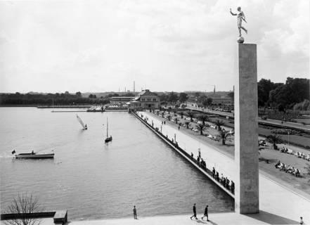 ARH NL Koberg 3015, Maschsee Nordufer von der Leiter aus, Hannover, 1938