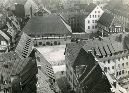 ARH NL Koberg 3017, Erneuerung des Ballhofs, Blick von der Kreuzkirche, Hannover, 1938