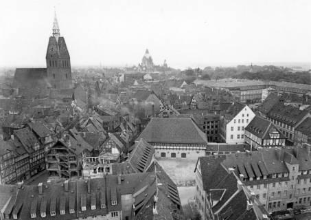 ARH NL Koberg 3020, Erneuerung des Ballhofs, Blick von der Kreuzkirche, Hannover, ohne Datum