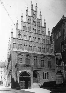 ARH NL Koberg 3024, Giebel des Alten Rathauses Südseite, Hannover, 1939