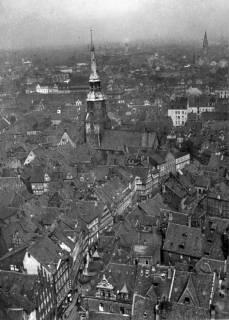 ARH NL Koberg 3028, Blick vom Turm der Marktkirche auf die Kreuzkirche, Hannover, 1936