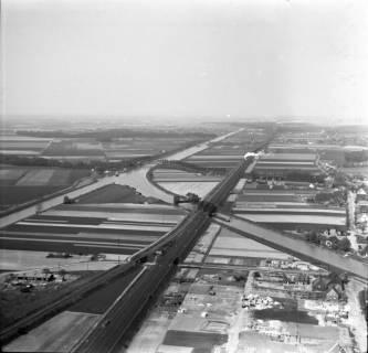 """ARH NL Koberg 3173, Treffpunkt von Mittellandkanal und Stichkanal Linden am """"Lohnder Meer"""", Lohnde, 1960"""