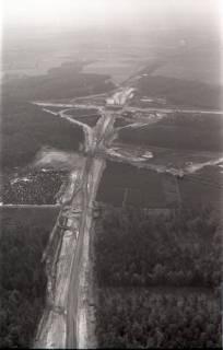 ARH NL Koberg 3266, Baustelle Autobahnkreuz Hannover-Ost (A7/A2), Lehrte, 1960
