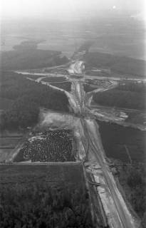 ARH NL Koberg 3267, Baustelle Autobahnkreuz Hannover-Ost (A7/A2), Lehrte, 1960
