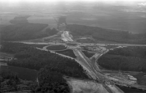 ARH NL Koberg 3268, Baustelle Autobahnkreuz Hannover-Ost (A7/A2), Lehrte, 1960