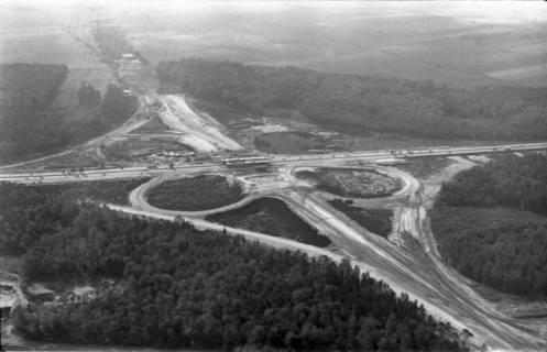 ARH NL Koberg 3269, Baustelle Autobahnkreuz Hannover-Ost (A7/A2), Lehrte, 1960