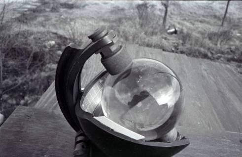 ARH NL Koberg 329, Sonnenscheinschreiber der Wetterstation Steinhude, 1972