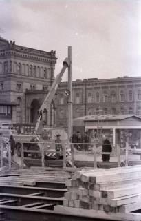 ARH NL Koberg 351, Baustelle auf dem Ernst-August-Platz, Hannover, 1972
