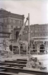 ARH NL Koberg 352, Baustelle auf dem Ernst-August-Platz, Hannover, 1972