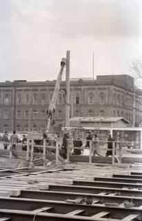 ARH NL Koberg 353, Baustelle auf dem Ernst-August-Platz, Hannover, 1972