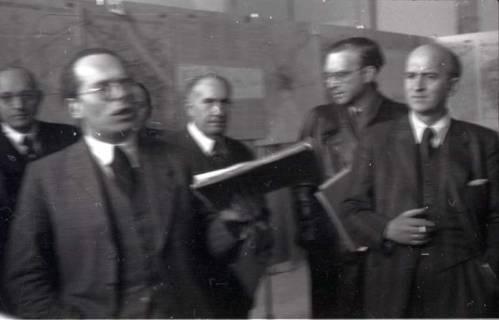 ARH NL Koberg 368, Entscheidung des Innenstadtwettbewerbs unter Leitung von Stadtbaurat Rudolf Hillebrecht, 1949